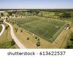 aerial view of a baseball...   Shutterstock . vector #613622537