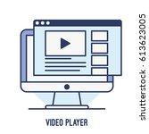 illustration of video player... | Shutterstock .eps vector #613623005