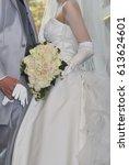 bridal image  splendid and... | Shutterstock . vector #613624601