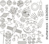 space elements set  collection... | Shutterstock .eps vector #613630601