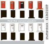 funny open doorway entrances... | Shutterstock .eps vector #613631009