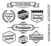set of vintage premium quality... | Shutterstock .eps vector #613633319