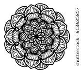 mandalas for coloring book....   Shutterstock .eps vector #613635857