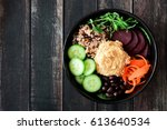 healthy vegetarian nourishment... | Shutterstock . vector #613640534