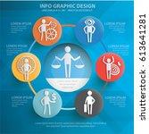 businessman info graphics... | Shutterstock .eps vector #613641281