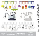 educational puzzle game for... | Shutterstock .eps vector #613641431