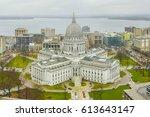 wisconsin state capital in... | Shutterstock . vector #613643147