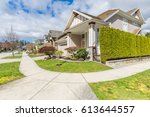nicely trimmed and manicured... | Shutterstock . vector #613644557