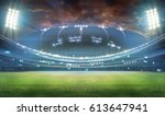 stadium in lights and flashes... | Shutterstock . vector #613647941