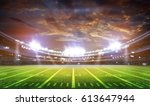 american football stadium 3d. | Shutterstock . vector #613647944