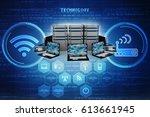 3d rendering computer network | Shutterstock . vector #613661945