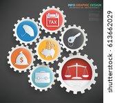business info graphics design...   Shutterstock .eps vector #613662029