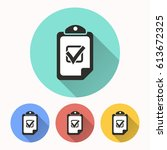 checklist vector icon.... | Shutterstock .eps vector #613672325