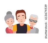 elder parents and daughter   Shutterstock .eps vector #613674539
