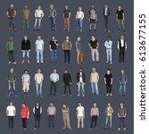 diversity people set gesture... | Shutterstock . vector #613677155