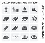 vector icon of steel pipe and... | Shutterstock .eps vector #613678184