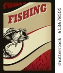 bass fishing logo isolated on... | Shutterstock .eps vector #613678505