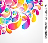 abstract colorful arc drop... | Shutterstock . vector #613682375