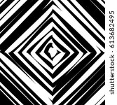 black and white hypnotic... | Shutterstock .eps vector #613682495