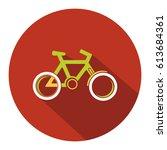 bicycle. bike icon vector.   Shutterstock .eps vector #613684361