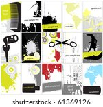 business cards collection  ... | Shutterstock .eps vector #61369126