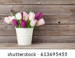 Colorful Tulips Bouquet In...