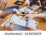 business people brainstorming...   Shutterstock . vector #613696829