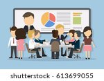 business conference concept... | Shutterstock . vector #613699055