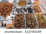 exotic thai food   fried and... | Shutterstock . vector #613700189