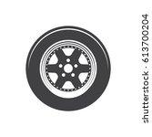 vector car wheel icon   Shutterstock .eps vector #613700204