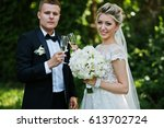 stylish and gorgeous wedding...   Shutterstock . vector #613702724
