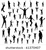 collection nice silhouettes | Shutterstock .eps vector #61370407