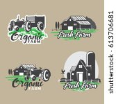 set of farm logo design. | Shutterstock .eps vector #613706681