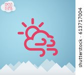 weather icon. flat style for...   Shutterstock .eps vector #613717004