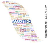 marketing. word collage on... | Shutterstock .eps vector #61371829