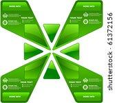 vector set of sale design... | Shutterstock .eps vector #61372156