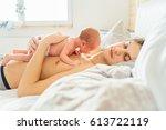 Newborn Baby Boy Lying On...