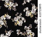 Stock vector flower pattern illustration 613723895