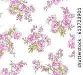 flower pattern illustration | Shutterstock .eps vector #613723901