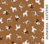 dog illustration pattern   Shutterstock .eps vector #613729565