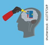 psychology  psychotherapy ... | Shutterstock .eps vector #613737269