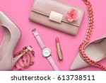 fashion design woman... | Shutterstock . vector #613738511