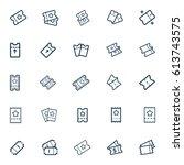 tickets line icons vector set  | Shutterstock .eps vector #613743575