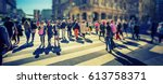 busy pedestrian crossing over... | Shutterstock . vector #613758371