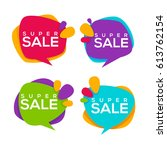 super sale  vector collection... | Shutterstock .eps vector #613762154