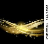 golden luxury wave layout... | Shutterstock .eps vector #613765055
