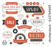sale badges and tags design... | Shutterstock .eps vector #613769609