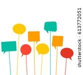 speech bubbles | Shutterstock .eps vector #613772051