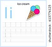 writing a z  alphabet ... | Shutterstock .eps vector #613776125