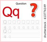 writing a z  alphabet ... | Shutterstock .eps vector #613776149